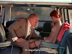 Sex-addicted Chick Fucks in a Bus 1970s Vintage