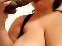 Horny BBW Latina Fucking Her Dildo
