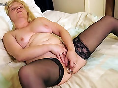 Naughty British mature lady and granny getting wet and wild