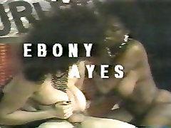 Ebony Ayes Big Black Boobs Interracial Threesome