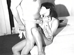 Vintage - Asian girl sucking on a gigantic dick black