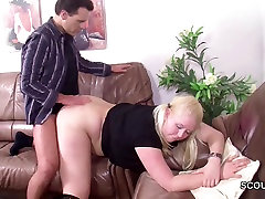 Step-dad Seduce German NOT his daughter to Fuck if Mom away