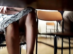 Turkish girl&039;s upskirt with black panty