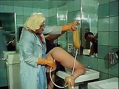 Classic Enema in Club&039;s Bathroom