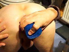 Double anal fucking my gaping asshole