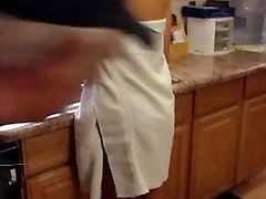 Hot Blonde has her towel ripped off by dirty old man