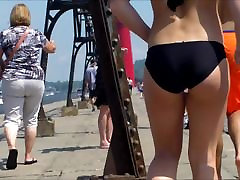 Candid Beach Bikini Ass Butt West Michigan Booty Mindy