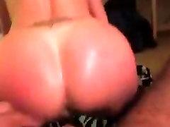 Huge black cock penetrating white ass