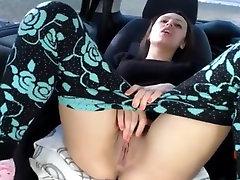 Lesbian Girls in Car on Public Park VR88