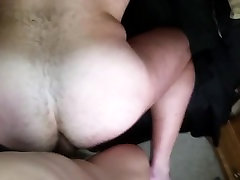 Hot beefy bear taking cock up the ass
