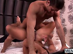 Horny Nicoli Cole drops his pants begging for a hard cock