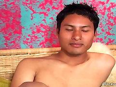 Mexican dude sucking black cock