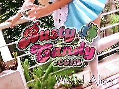 Busty Blonde Teen - Big Round Ass Upskirt and High Heels
