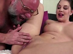 Young Cutey Fucked by Dirty Old Bastard