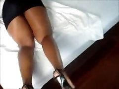 Big Booty Ebony - Ass Miniskirt