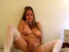 Hot Chubby Teen Ex GF playing with her delicious pussy