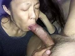 Amateur Asian Mature sucking