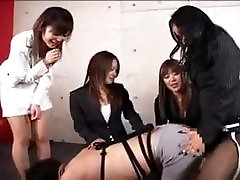 Asian Strapon Female group to Male