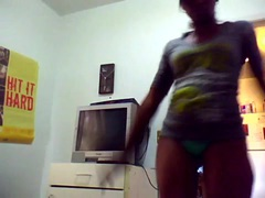 ebony granny dancing on webcam 3