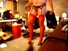 Standing Masturbating & Crossdressed