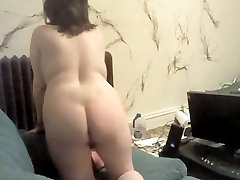 Shy Fat Chubby Teen GF Showing her Big tits and ass