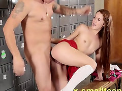 Slutty cheerleader fucked doggystyle squirting ass spanked