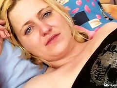 Big tits amateur milf plays with tits and pussy