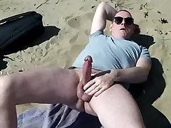 gay pig exhibitionist on the beach