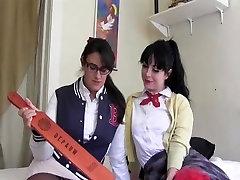 schoolgirl strapon lesbians