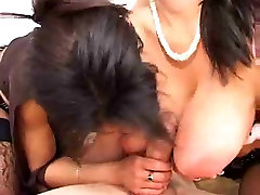 Horny Black and White Milfs fucking a luck man
