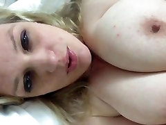 Girl With Huge Tits Has Orgasim