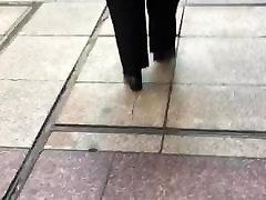 Bbw big booty milf in black dress pants 2