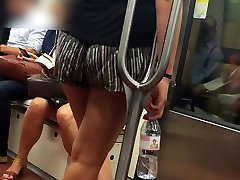 Fine little french ass in short - subway