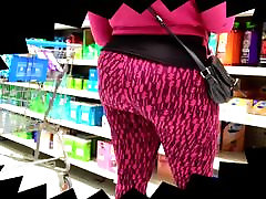 Big Black Ebony Ass Stalking at Walmart!