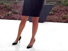 Friend&039;s feet in red heels 3