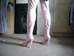 Pink Thigh Boots
