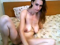 Blue Eyes and Saggy Big Tits Fucking