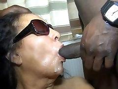 Big Tits Mature Having an Interracial Bukkake