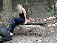 Boot Worship in Woods
