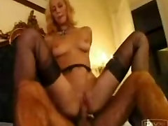 Black stockings getting anal fucked
