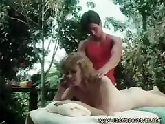 Vintage porn movie where blonde babe gets a massage and fucks