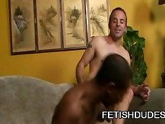 Little Blunt and Billy DeWitt: Black Man Adoring A Hairy White Ass