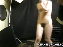 Bound Asian gets treated to a avalon forced xnxx rope session