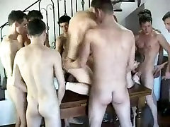 Amateur Bareback DP Boys Group Fuck