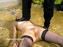 Rough domination and amateur bdsm of slaves in hardcore sex and kinky spank