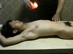Naked Slave Boy Got Hot Wax