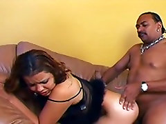 Hot ebony chick getting fucked