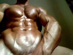Hot Muscle Hunk Flexes and Shows off Naked