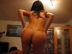 Asian girl dancing naked. Crista from 1fuckdate.com