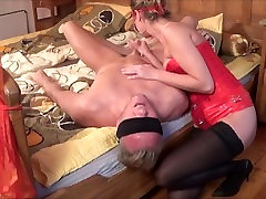 Domina Kate Truu Squirting On Her Slave Face. BDSM Session part 1